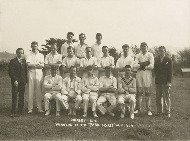 Chinley Cricket Club winners of Park House Cup, Chinley, 1929