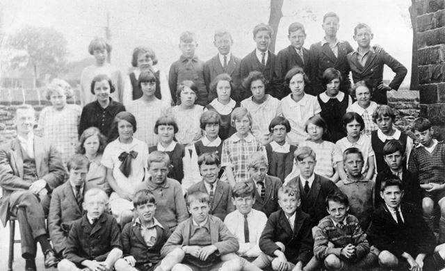 Group Photo, Chinley School, Buxton Road, Chinley, 1927