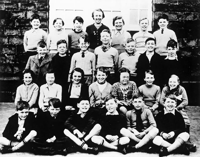 Class Photo, Chinley School, Buxton Road, Chinley, c 1956