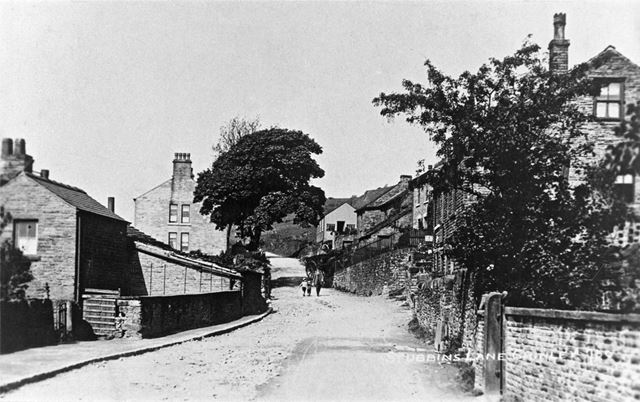 Stubbins Lane, Chinley,  c 1900