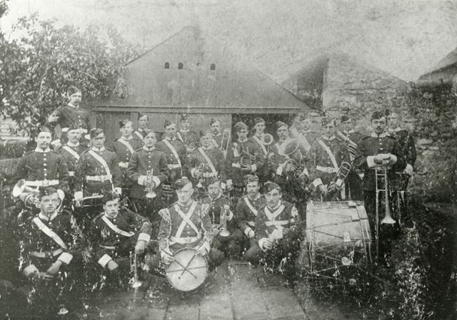 Group Photo of Local Band, Chinley, pre 1914