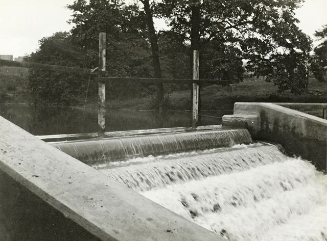 After the Storm at Alderbrook Dam, Chinley, 1939