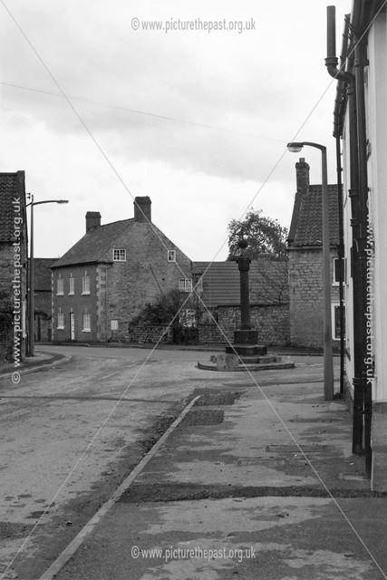 View to Village Cross from Park Street, Barlborough, c 1975
