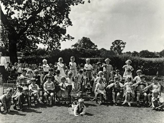 Open Day, Tansley Infants School, Gold Hill?, Tansley, c 1955-60