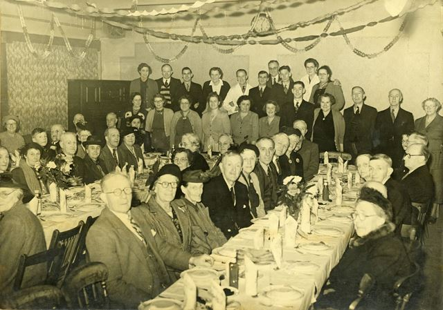 Party for Life Members of the Miner's Welfare Club, Nottingham Road, Ripley, 1954