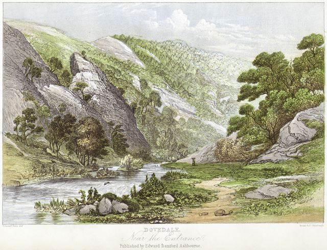 Entrance to Dovedale by Edward Price (1800-c1885), c 1868?