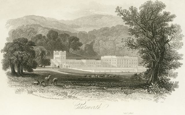 Chatsworth House, Chatsworth Estate, 1840