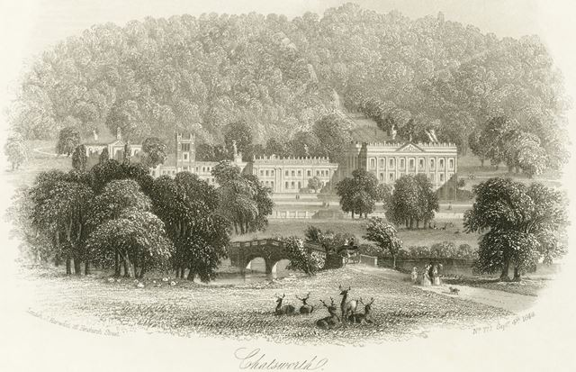 Chatsworth House, Chatsworth Estate, 1849