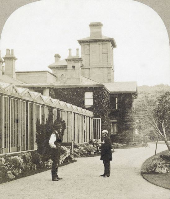 New Holland House and Paxton's House, Chatsworth Gardens, Chatsworth, c 1868