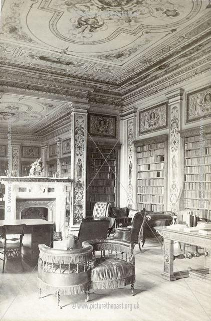 The Duke's Sitting Room, Chatsworth House, Chatsworth, c 1868
