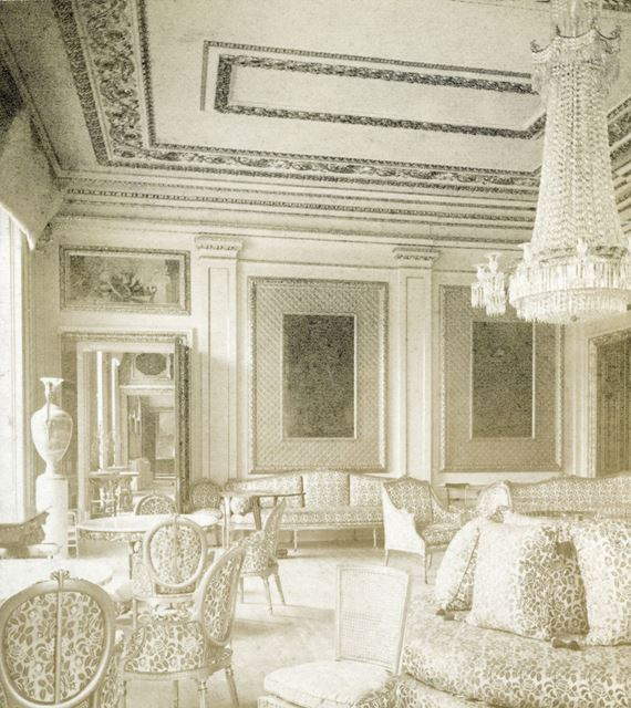 The Drawing Room, Chatsworth House, Chatsworth, c 1868