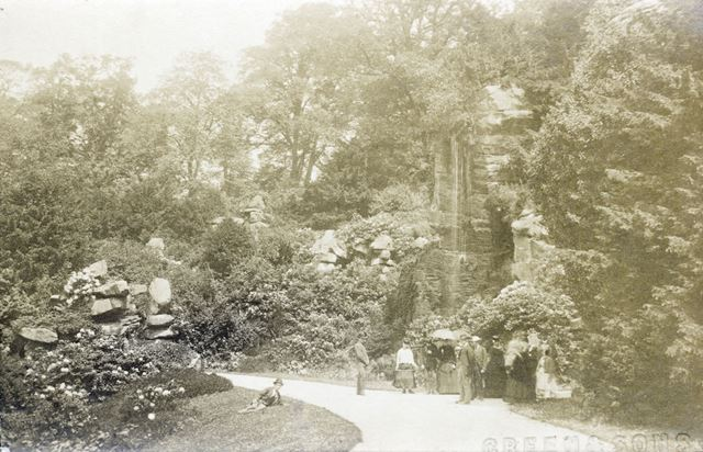 Chatsworth Gardens, Chatsworth, c 1868