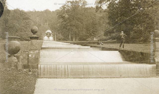 The Cascade, Chatsworth Gardens, Chatsworth, c 1868