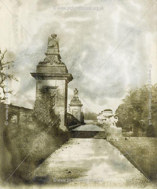Italian Gardens Lower Walk, Chatsworth Gardens, Chatsworth, 1868
