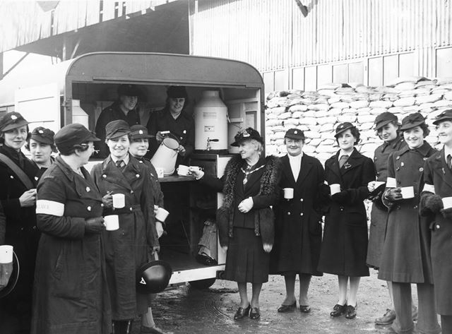 Women's Voluntary Service A.R.P Mobile Canteen, Derbyshire, c 1940