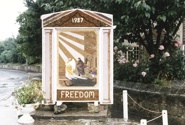 Well Dressing, Whitwell, 1987