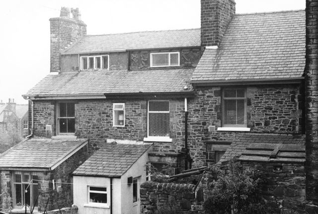 Property at the rear of Church Street, Hayfield, c 1977