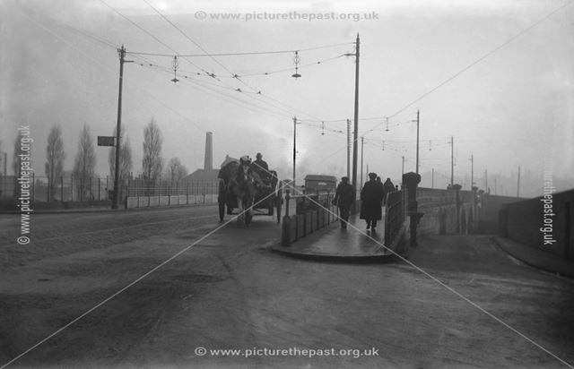 Trent Bridge from Bridge Street, Burton upon Trent, Staffordshire, c 1929 ?