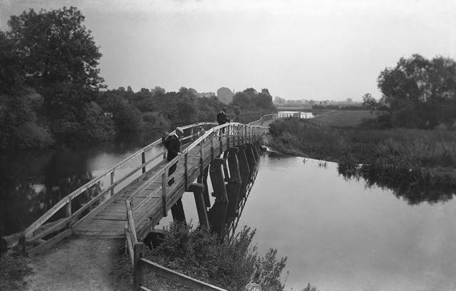 River Soar above Redhill Lock, Ratcliffe on Soar, c 1912 ?