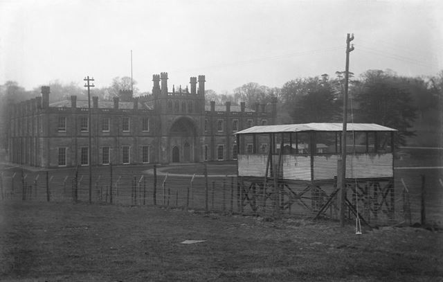 Prisoner of war camp at Donington Hall, Castle Donington, Leicestershire, c 1915