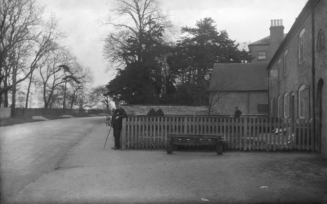 Village stocks, Main Road, Sudbury, c 1913