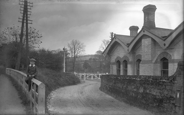 Railway station, Coxbench, c 1910