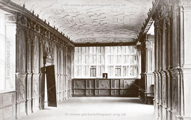 The Long Gallery, Haddon Hall, Haddon, c 1880s