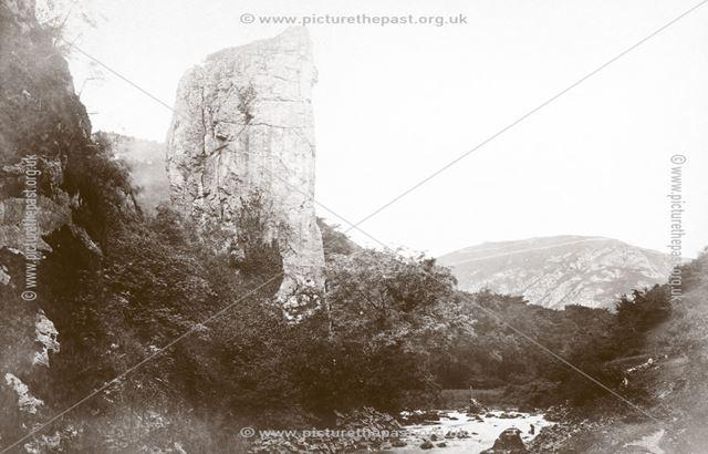 Ilam Rock, Dovedale, c 1880s