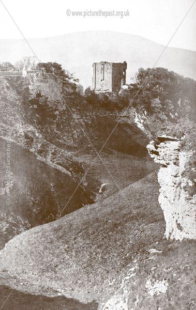 Peveril Castle and Cave Dale, Castleton, pre 1881