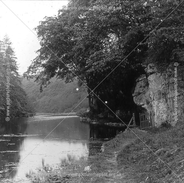 River in limestone dale, c 1900