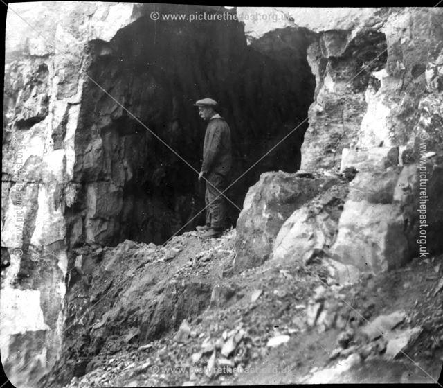 Cave entrance, c 1900