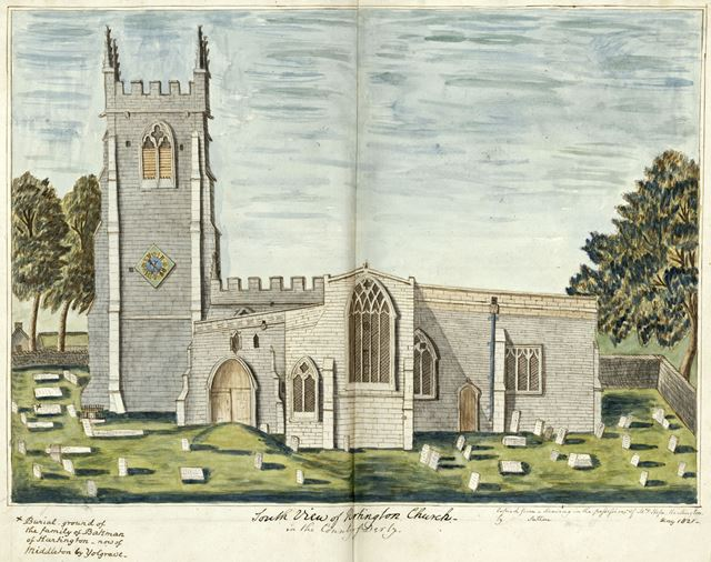 Church of St Giles, off Hide Lane, Hartington, 1821