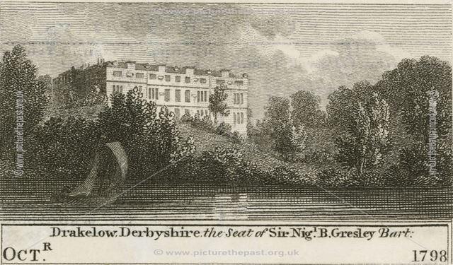 Dakelow Hall, Walton Road, Drakelow, near Burton upon Trent, 1798