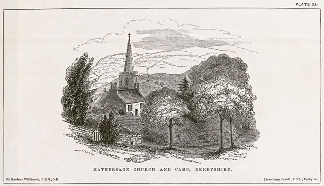 Hathersage Church and Camp, early 1800s