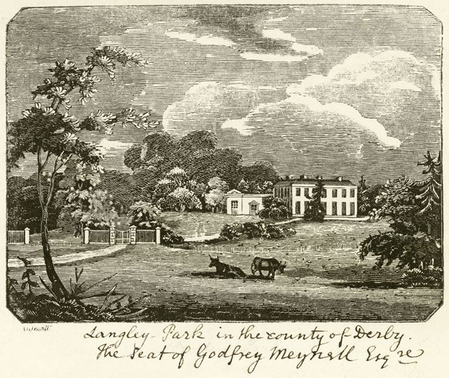 Langley Park, Meynell Langley, Kirk Langley, c 1850