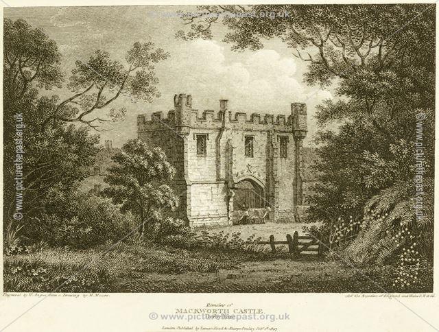 Remains of Mackworth Castle, off Lowe Road, Mackworth Village, 1807