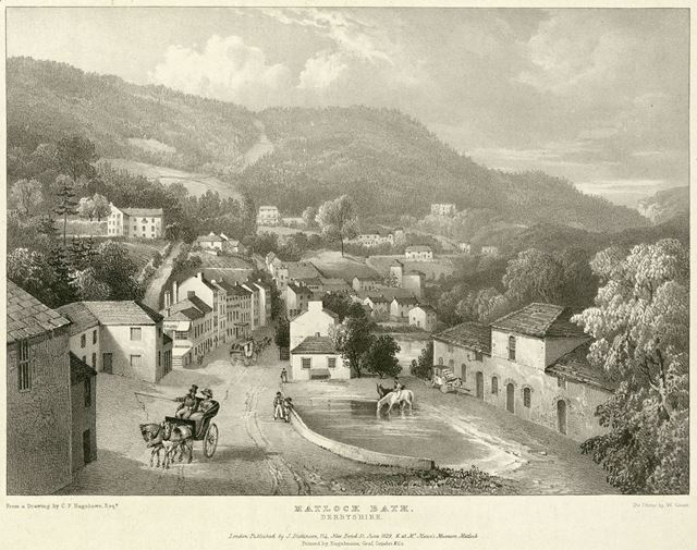 View of Matlock Bath, now the North Parade, A6, Matlock Bath, 1829