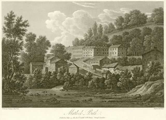 North view of Matlock Bath, now the North Parade, A6, Matlock Bath, 1817