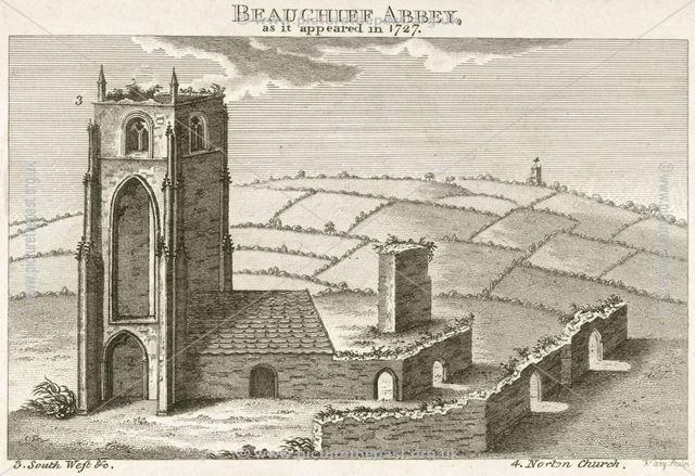 Southwest view of Beauchief Abbey, Beauchief Abbey Lane, Beauchief, near Sheffield, 1727