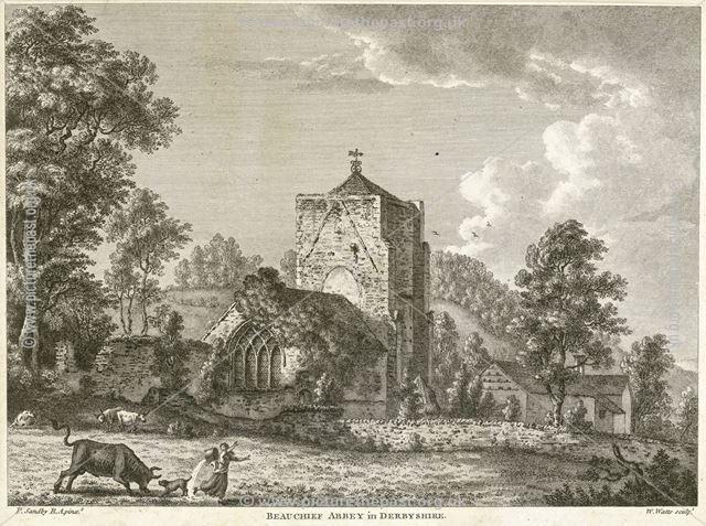 Northeast view of Beauchief Abbey, Beauchief Abbey Lane, Beauchief, near Sheffield, c 1800?