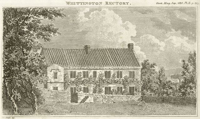 Rectory, Church Lane, Old Whittington, Chesterfield, c 1810