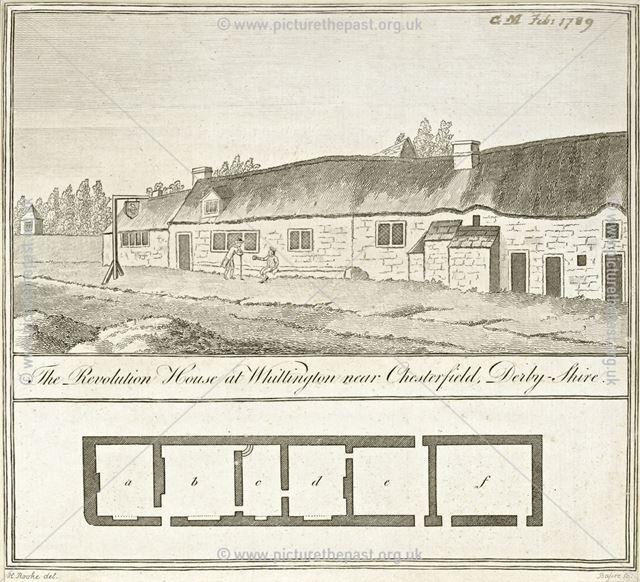 The Revolution House, High Street, Old Whittington, Chesterfield, 1789