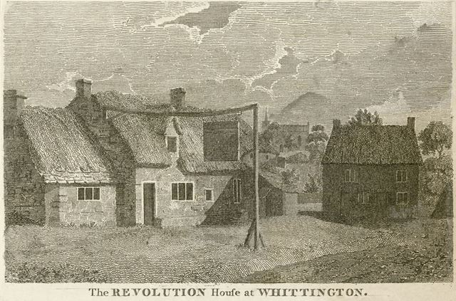 The Revolution House, High Street, Old Whittington, Chesterfield, c 1800