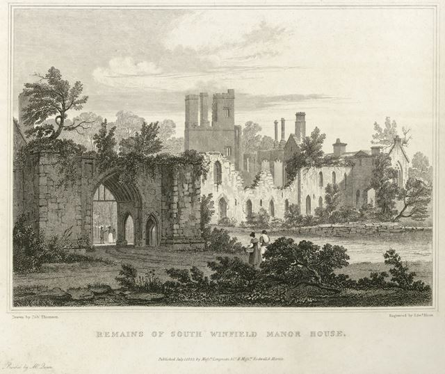 Remains of South Winfield (Wingfield) Manor House, South Wingfield, near Oakerthorpe, 1823