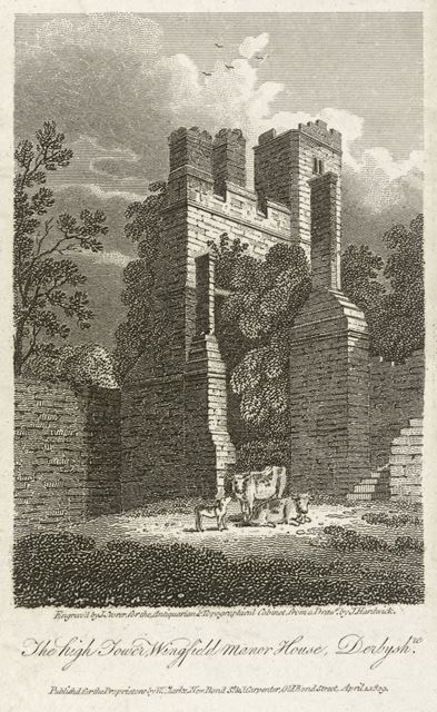 The High Tower of Wingfield Manor House, South Wingfield, 1809