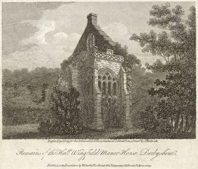 Remains of the Hall, Wingfield Manor House, South Wingfield, 1809