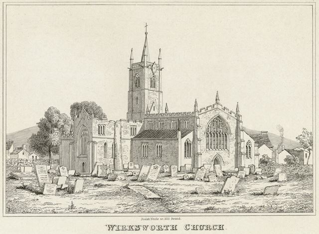 St Mary's Church, St Mary's Gate, Wirksworth, c 1800