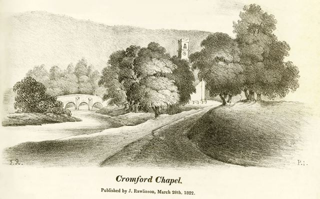 Cromford Bridge and St Mary's Church, Mill Road, Cromford,  c 1821 ?