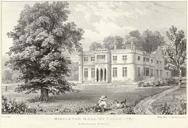 Middleton Hall, The Pinfold, Middleton by Youlgreave, c 1800