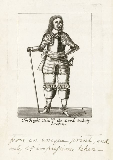 Henry Ireton (1611 - 1651), Lord Deputy of Ireland, c 1650